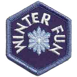 Winter, Fun, Cold, Wonderland, Snow, Snowflake, Snowman, Patch, Embroidered Patch, Merit Badge, Iron On, Iron-On, Crest, Girl Scouts, Boy Scouts, Girl