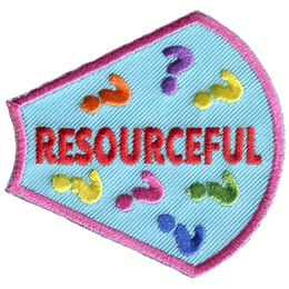 A Girl Is, Girls, Resourceful, Questions, Marks, Patches, Sets, Embroidered Patch, Merit Badge, Badges, Emblems, Iron On, Iron-On, Crests, Lapel Pins, Insignia, Girl Scouts, Boy Scouts, Girl Guides
