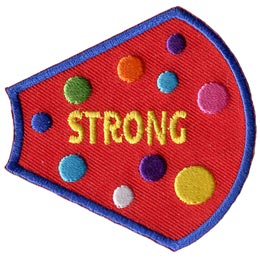 A Girl Is, Girls, Strong, Dots, Patches, Sets, Embroidered Patch, Merit Badge, Badges, Emblems, Iron On, Iron-On, Crests, Lapel Pins, Insignia, Girl Scouts, Boy Scouts, Girl Guides