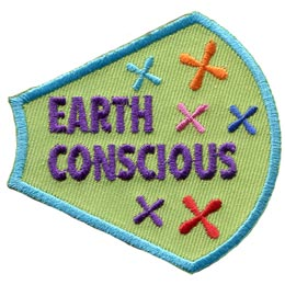 A Girl Is, Girls, Earth, Conscious, Crosses, Xs, Patches, Sets, Embroidered Patch, Merit Badge, Badges, Emblems, Iron On, Iron-On, Crests, Lapel Pins, Insignia, Girl Scouts, Boy Scouts, Girl Guides