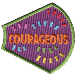 A Girl Is, Girls, Courageous, Lines, Dashes, Patches, Sets, Embroidered Patch, Merit Badge, Badges, Emblems, Iron On, Iron-On, Crests, Lapel Pins, Insignia, Girl Scouts, Boy Scouts, Girl Guides