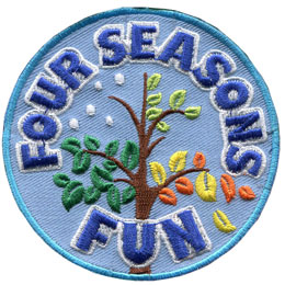 This circular crest is the centerpiece of the Four Seasons Fun set. It displays a single tree with its branches going through each of the four seasons.