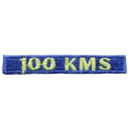 100, Kilometers, KMS, Hike, Boot, Mountain, Stream, Path, Mile, Patch, Embroidered Patch, Merit Badge, Badge, Emblem, Iron On, Iron-On, Crest, Lapel Pin, Insignia, Girl Scouts, Boy Scouts, Girl Guides
