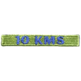 10, Kilometers, KMS, Hike, Boot, Mountain, Stream, Path, Mile, Patch, Embroidered Patch, Merit Badge, Badge, Emblem, Iron On, Iron-On, Crest, Lapel Pin, Insignia, Girl Scouts, Boy Scouts, Girl Guides