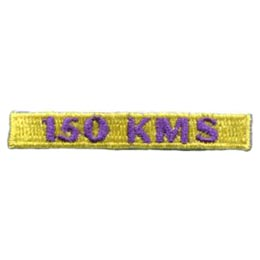 150, Kilometers, KMS, Hike, Boot, Mountain, Stream, Path, Mile, Patch, Embroidered Patch, Merit Badge, Badge, Emblem, Iron On, Iron-On, Crest, Lapel Pin, Insignia, Girl Scouts, Boy Scouts, Girl Guides