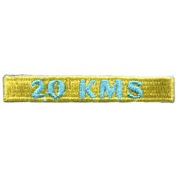 20, Kilometers, KMS, Hike, Boot, Mountain, Stream, Path, Mile, Patch, Embroidered Patch, Merit Badge, Badge, Emblem, Iron On, Iron-On, Crest, Lapel Pin, Insignia, Girl Scouts, Boy Scouts, Girl Guides