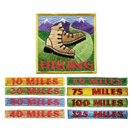 Hiking Miles Set (Iron On)