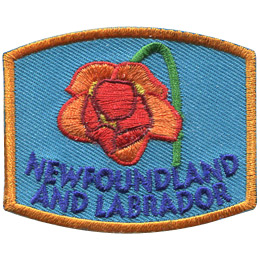 This patch displays Newfoundland and Labrador's provincial flower: the pitcher plant.